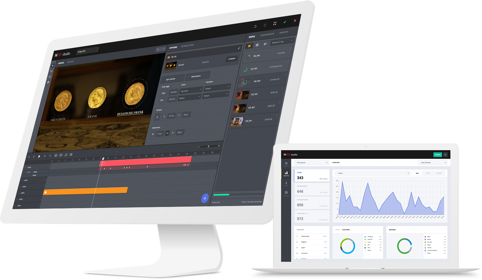 Online Interactieve Video editor van Ivory Studio